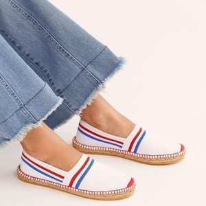 Free People On A Boat Ribbed Espadrille Flat